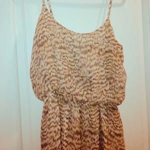 Slinky slip dress with ombré leopard print.